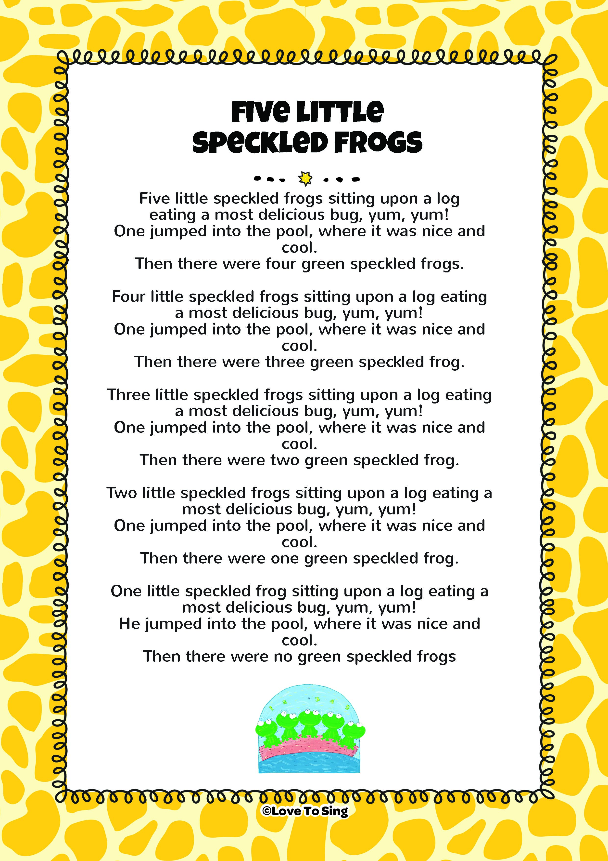 5 little frogs song