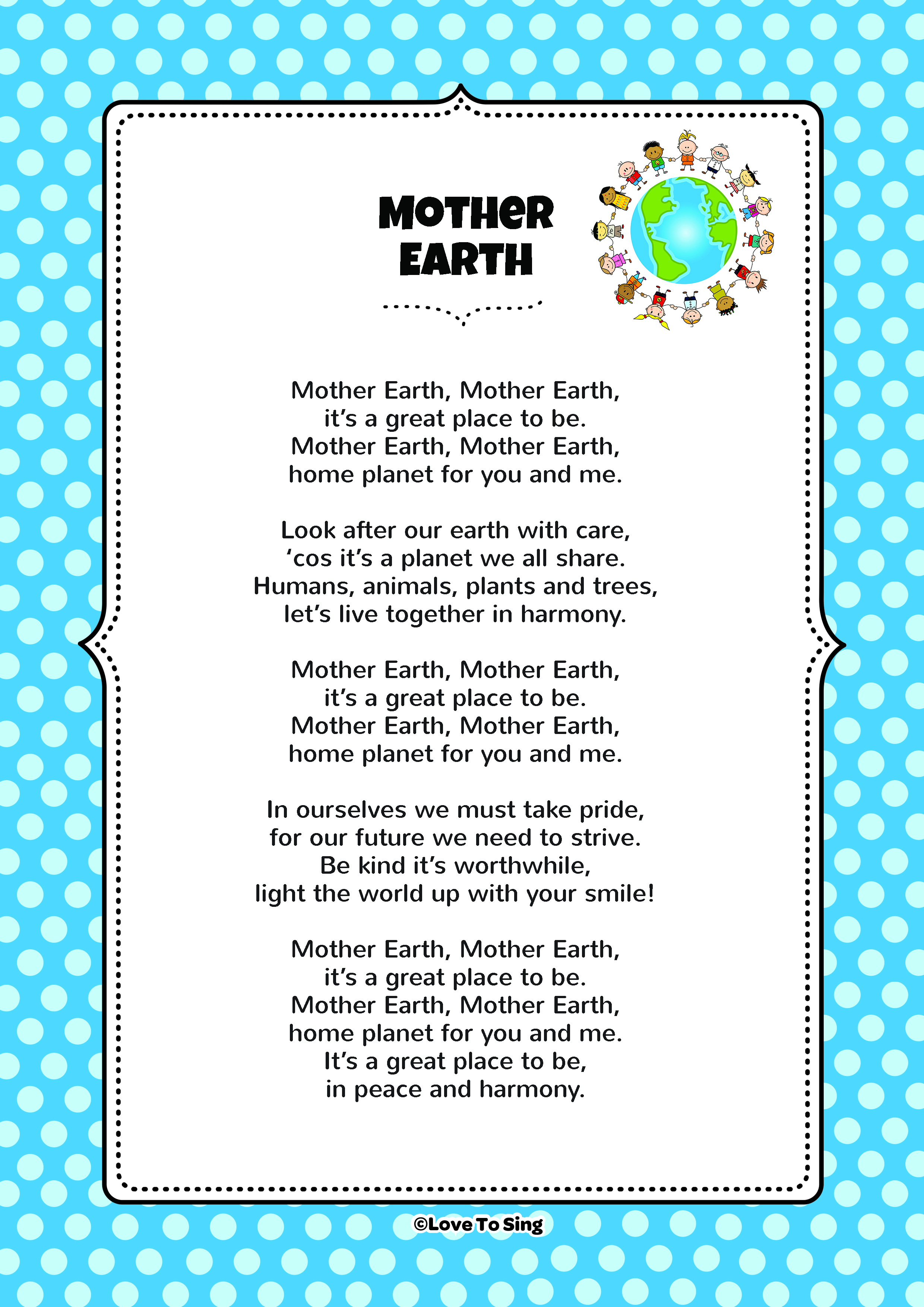 mother earth and me Our earth is the most beautiful planet in our solar system as far as we know, earth is the only planet that has life before 500 ad, man had a good relationship with mother earth but since humans developed cities and industries, the modern lifestyle has changed man has been using and misusing .