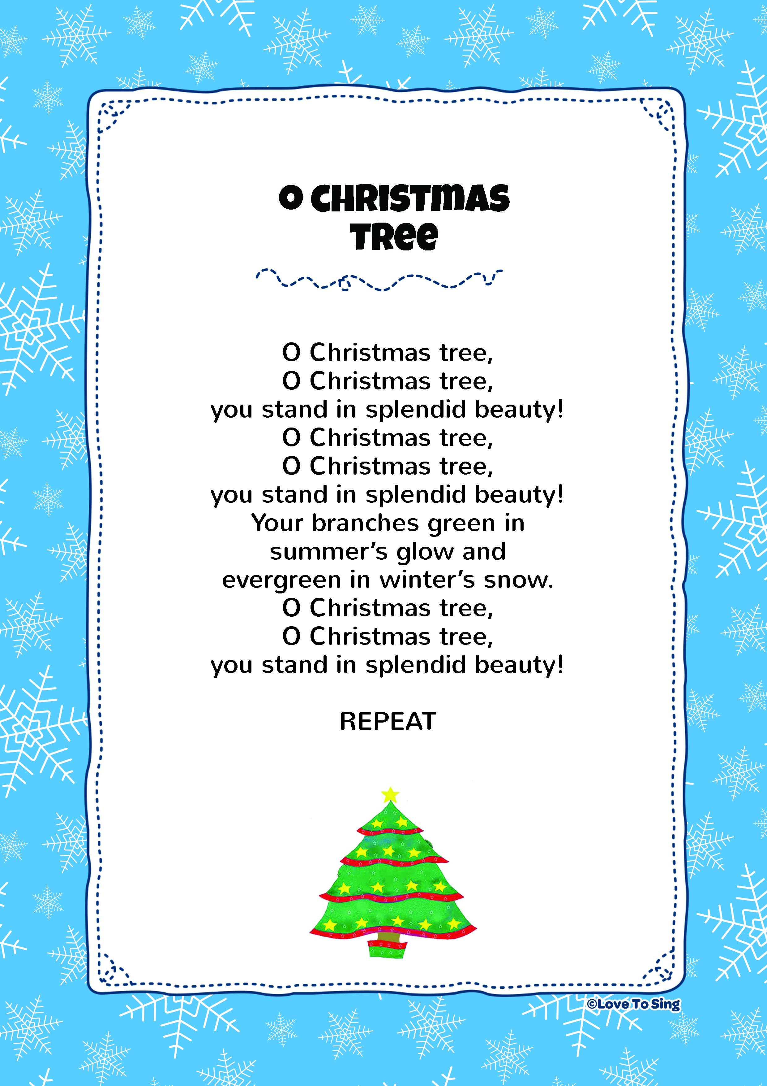 O Christmas Tree | Kids Video Song with FREE Lyrics & Activities!