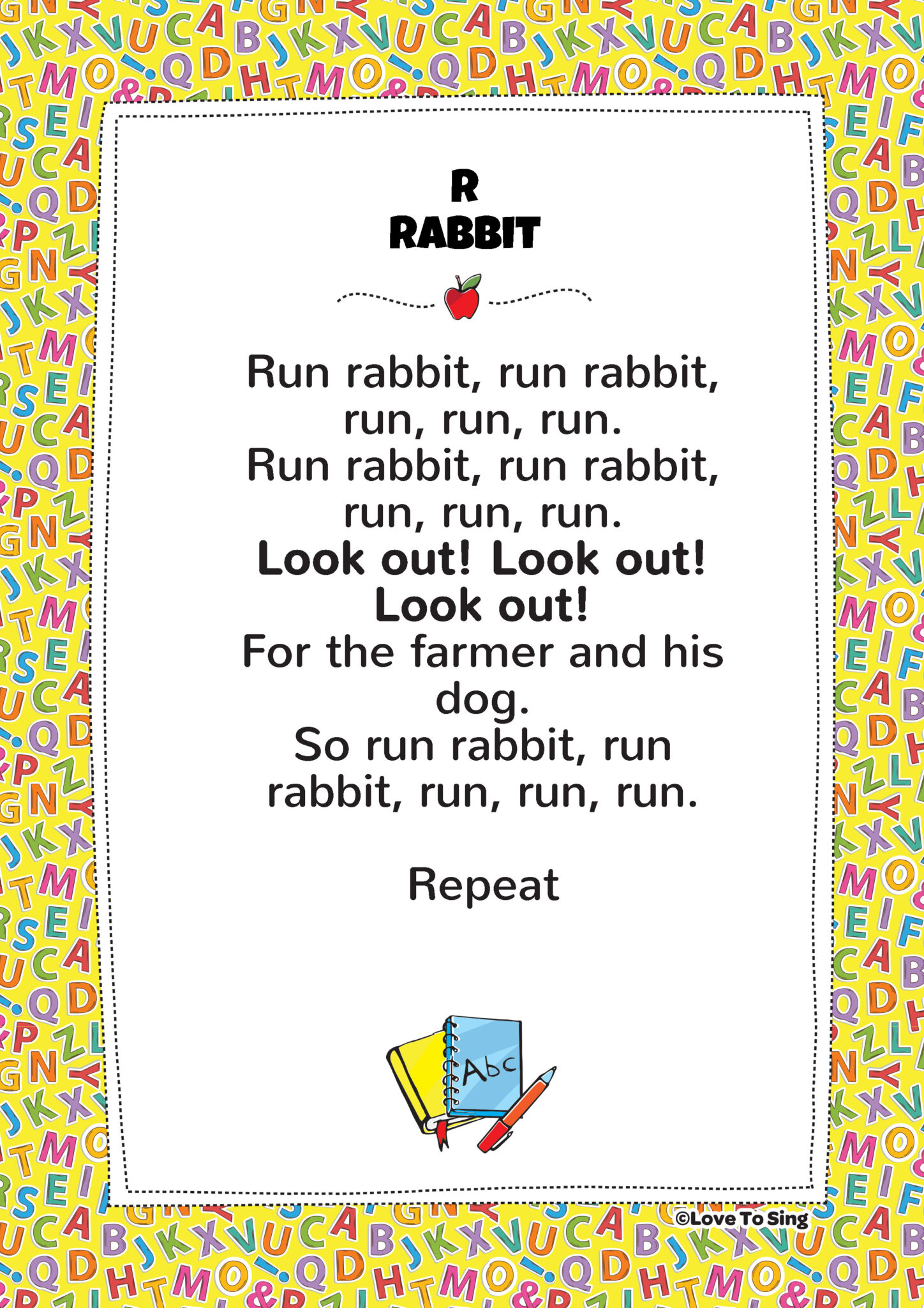 Rabbit (rabbit Song) | Kids Video Song with FREE Lyrics & Activities ...