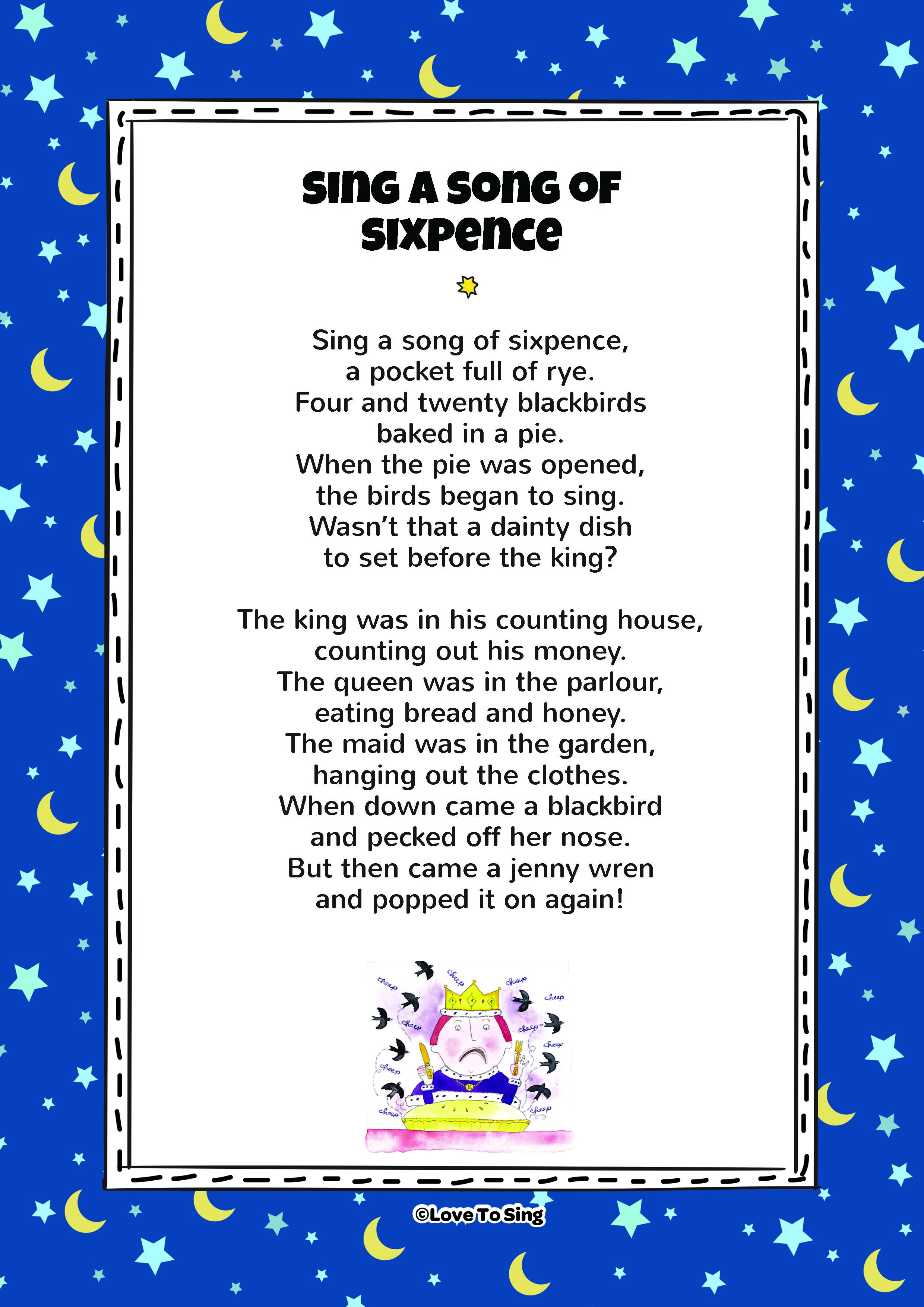 Sing A Song Of Sixpence | Kids Video Song with FREE Lyrics ...