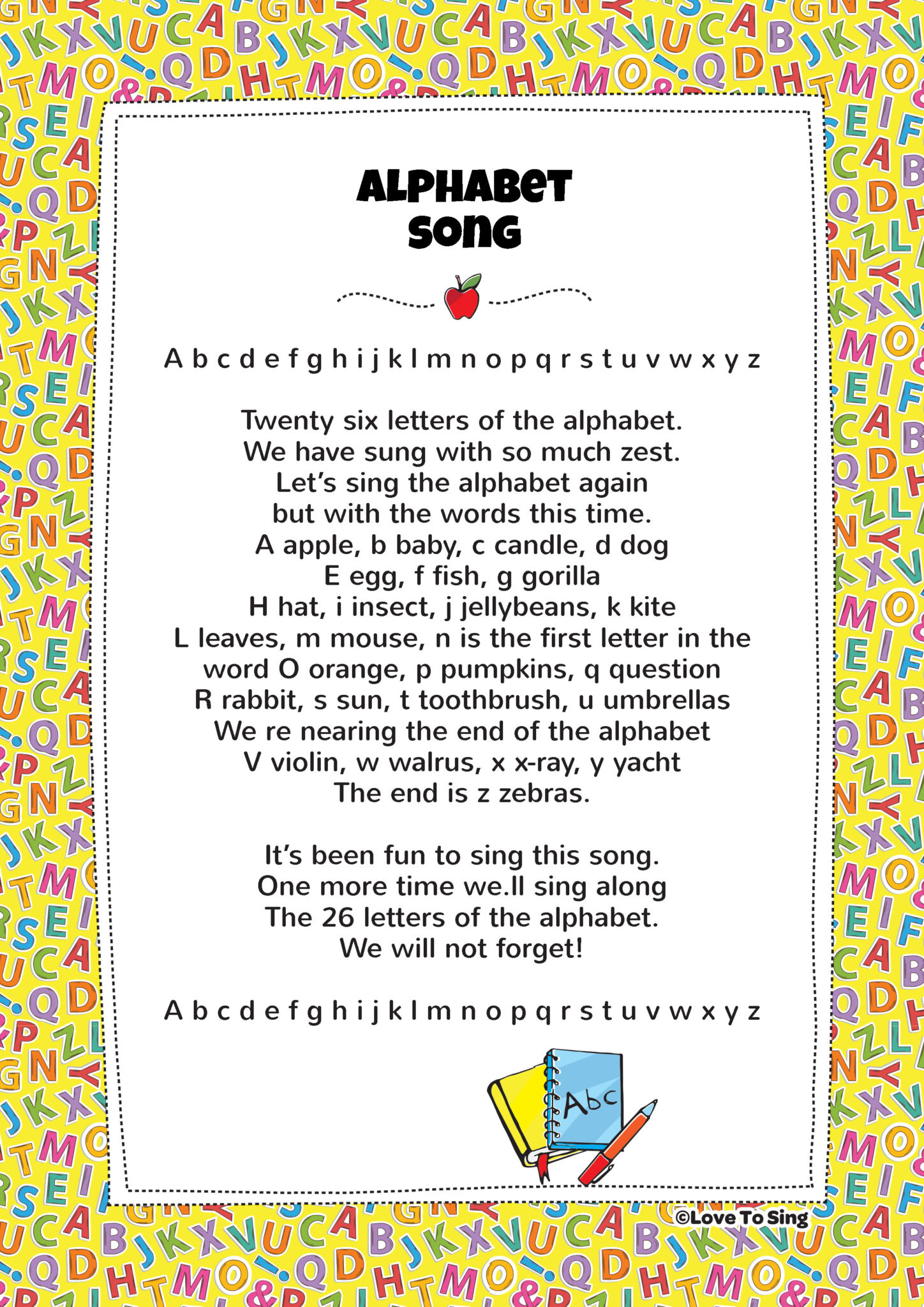 Alphabet Song | Kids Video Song with FREE Lyrics & Activities!